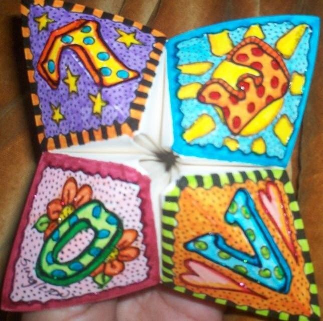 fortune teller origami  u00ab embroidery  u0026 origami