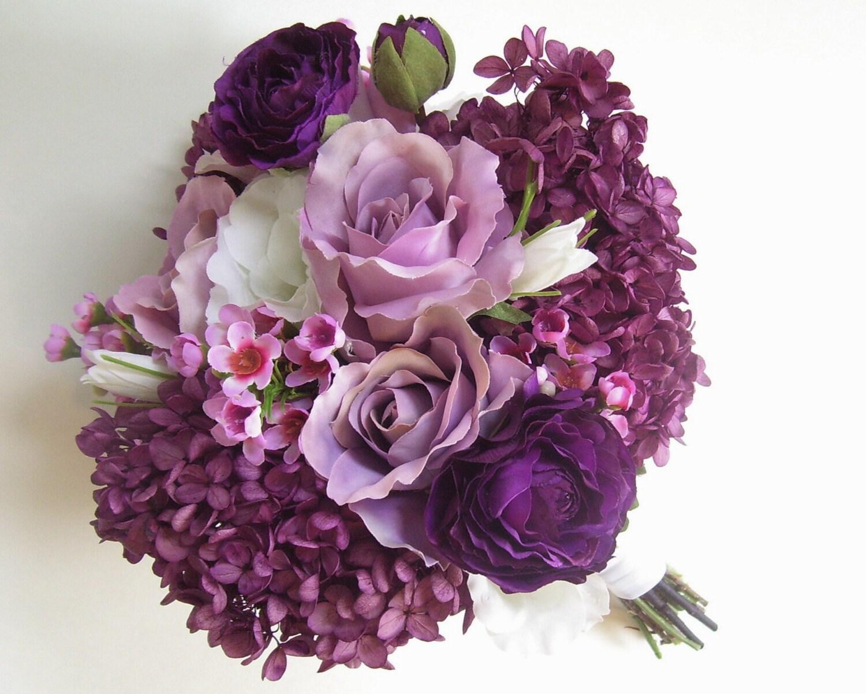 Purple Ranunculus Wedding Bouquets A Wedding Zone