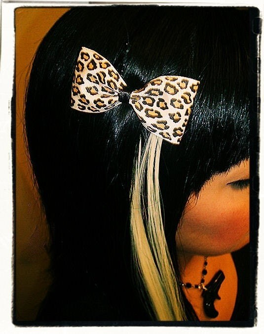 Rockabilly Psychobilly Punk Emo Retro Pinup Cheetah Tattoo Clip Barrette