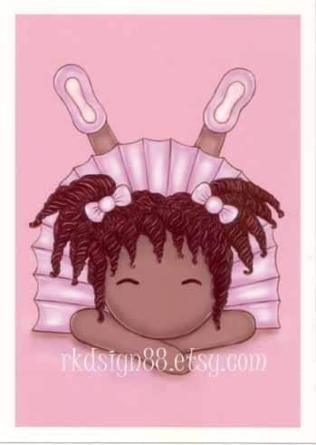 rkdsign88.blogspot.com etsy african girl cute children painting fun illustration nursery drawing art print cute whimsical reproduction