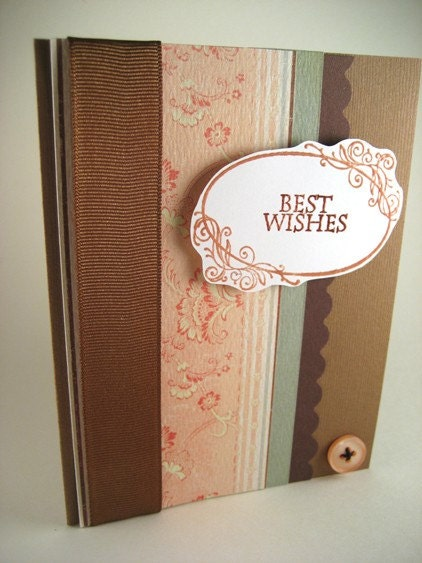 Best Wishes handmade card This brown