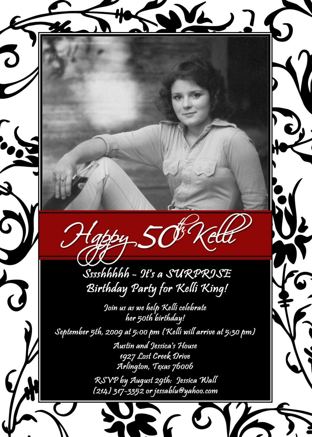 50th Birthday Invitations Templates Free Download 40th Birthday – Printable 50th Birthday Invitations Templates
