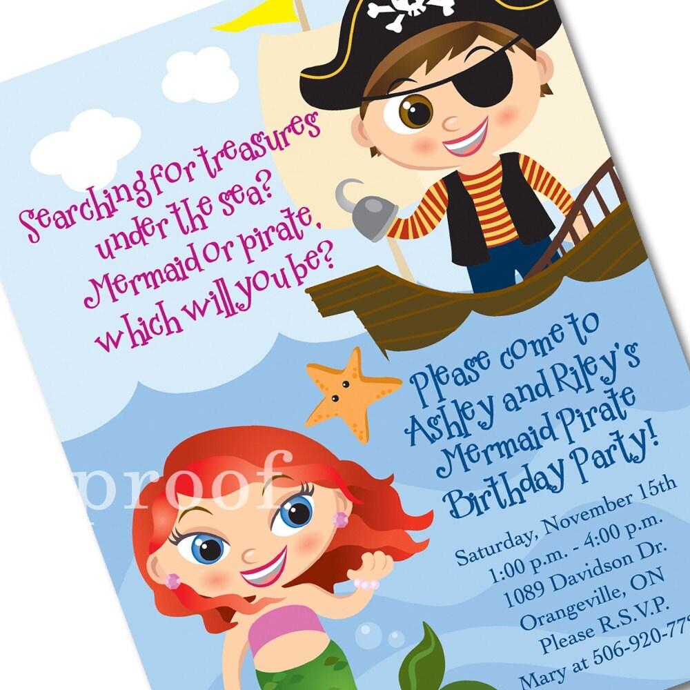 pirate party invitation template