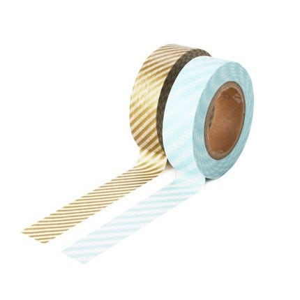 Gold and Silver Stripes for Weddings, Holidays, Birthdays
