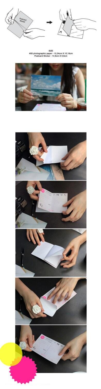 4X6 Postcard Sticker- 5 designs 10sheet