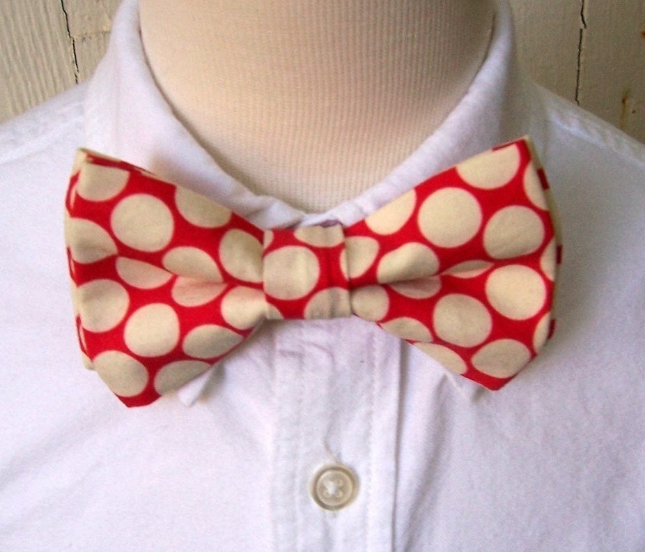 Bow Tie for Little Boys Cherry Red