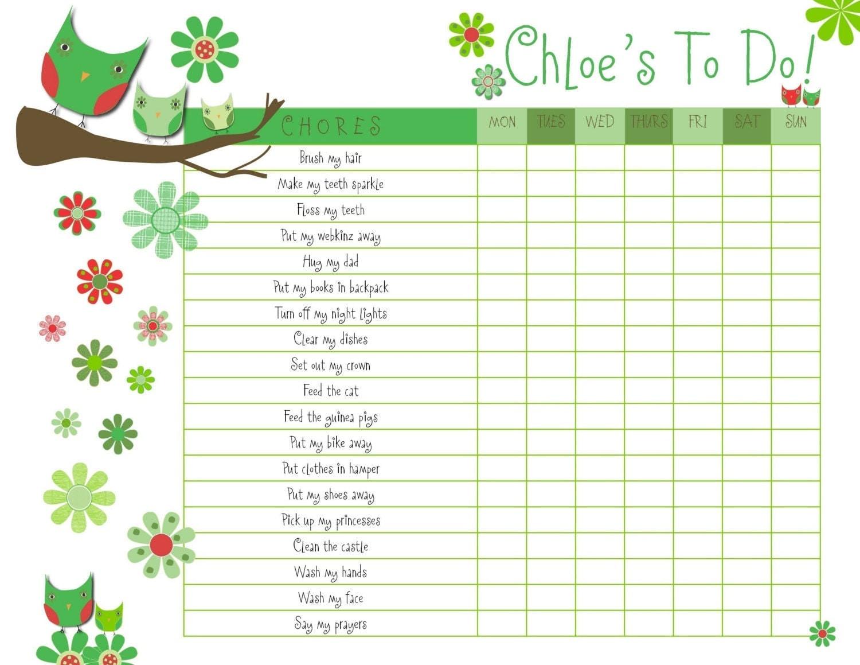 Blank Reward Chart type on lined paper – Free Reward Chart Templates