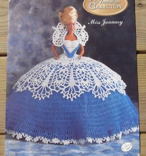 "Peppermint Candy Crochet Patterns 10"" Pillow Doll 13"" Bed Doll Dress"