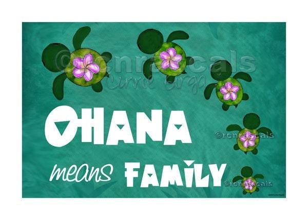Aloha or Ohana means Family ♥ I