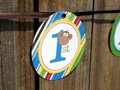 NEW Monkey Bright Smash Cake Toppers