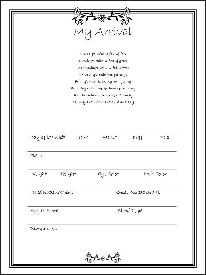free printable baby book templates - free printable memory book pages infocap ltd