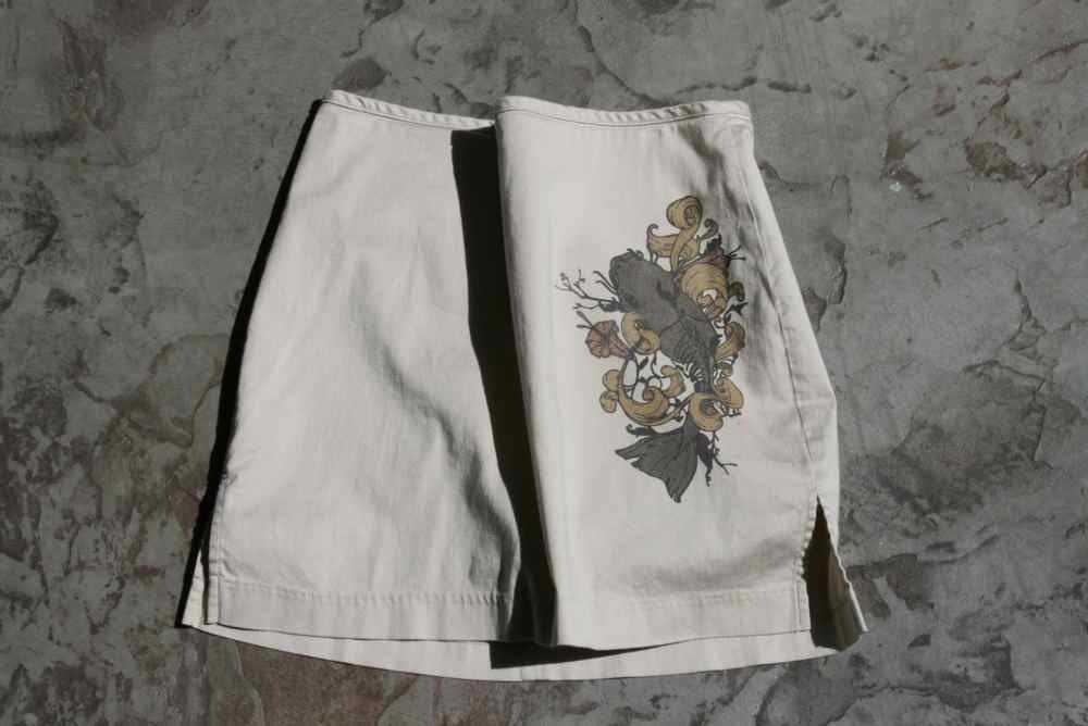 Catfish skirt Light tan skirt,