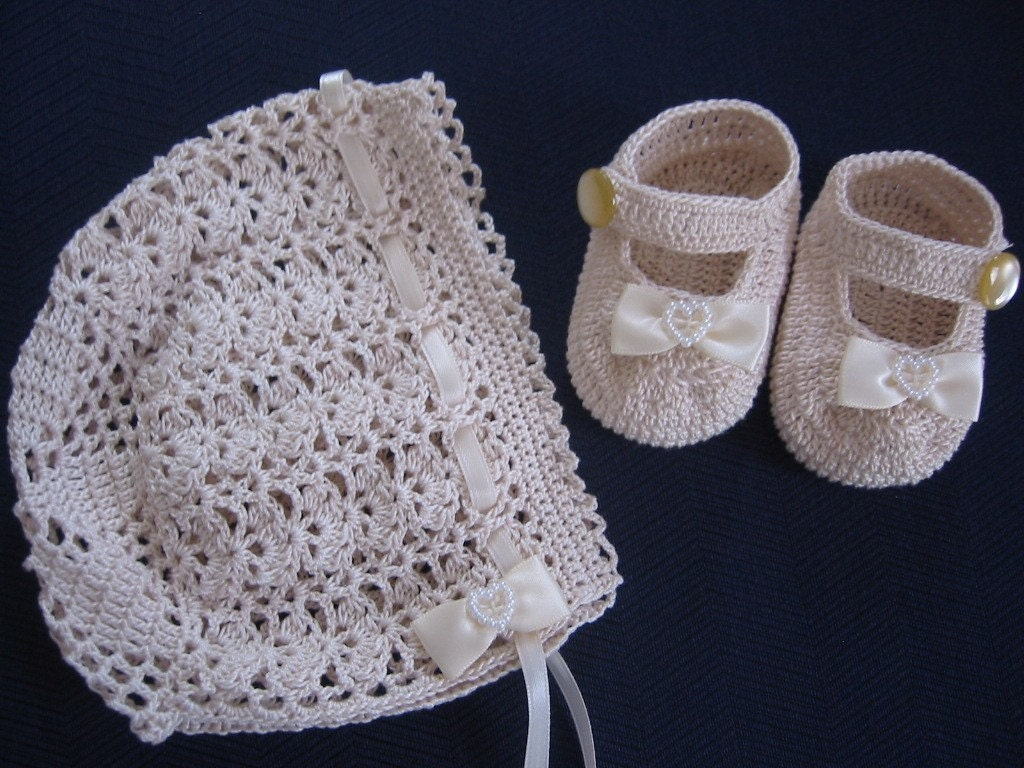 Baby Bonnet Crochet Pattern Thread Crochet Patterns