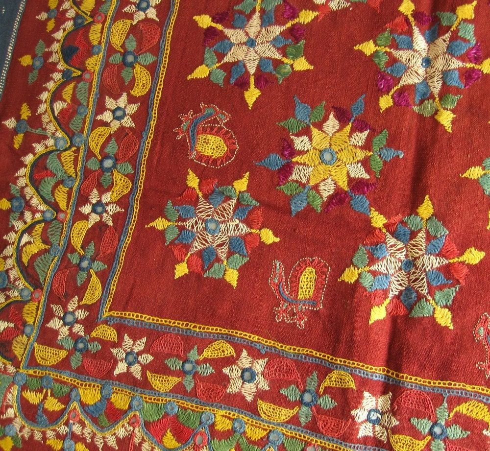 Kathi Embroidery , Handicrafts of Gujarat, Tour to Gujarat.