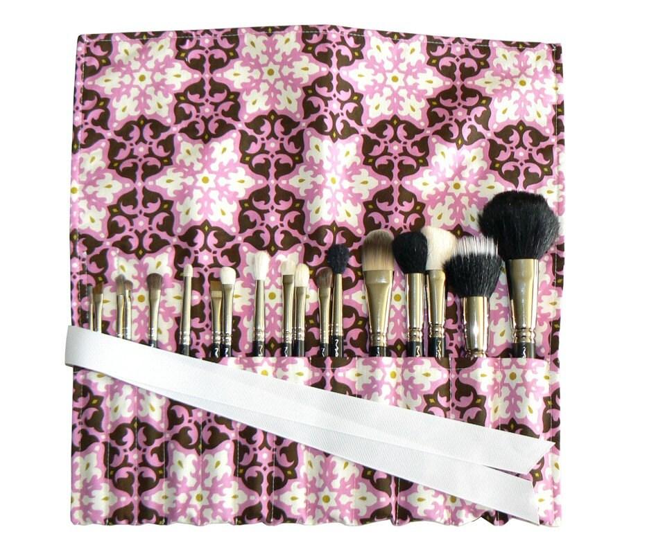 Amy Butler makeup brush roll,