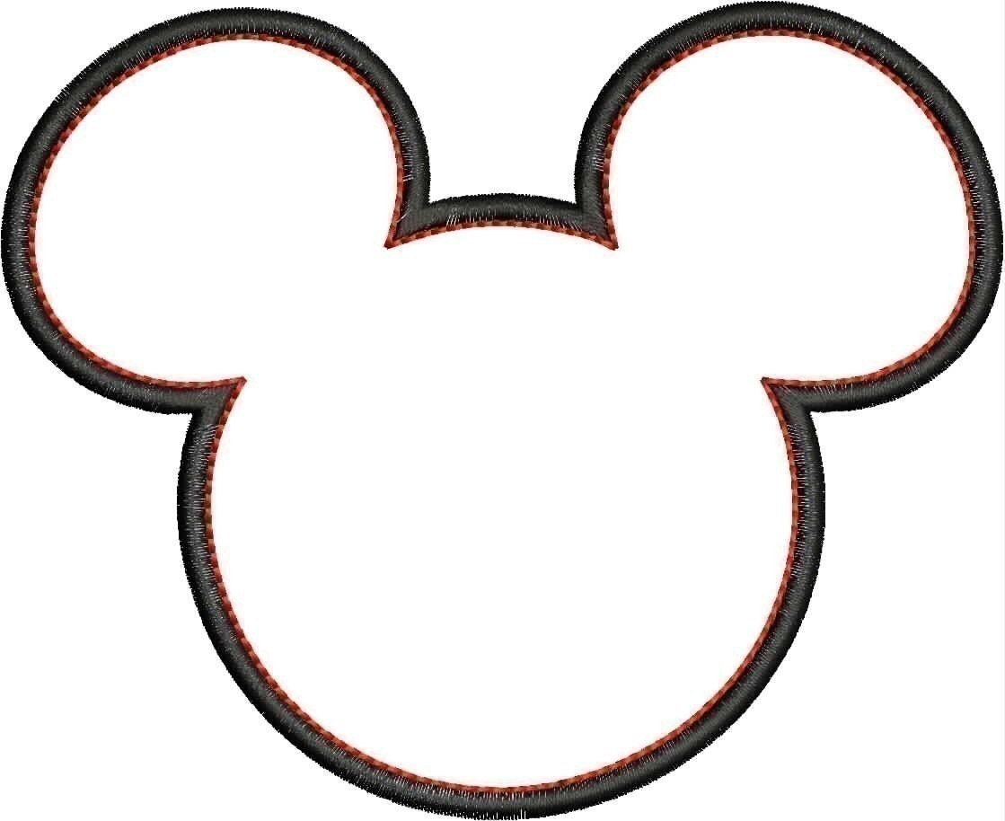 mickey mouse head shape template - free coloring pages of mickey mouse head outline