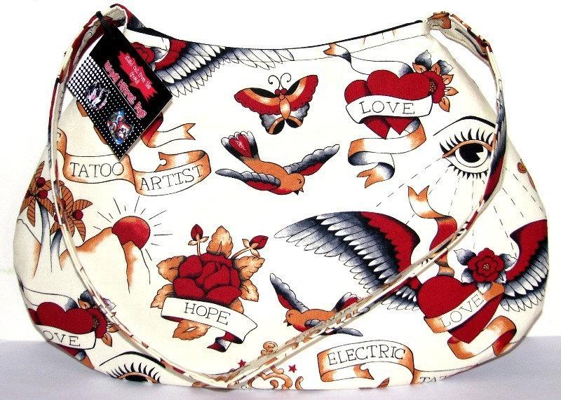 Love Tattoo Punk Goth Purse Handbag. From UniquelyDifferent