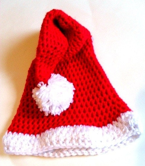 Santa Hat Christmas Ornament Crochet Pattern - Free Crochet