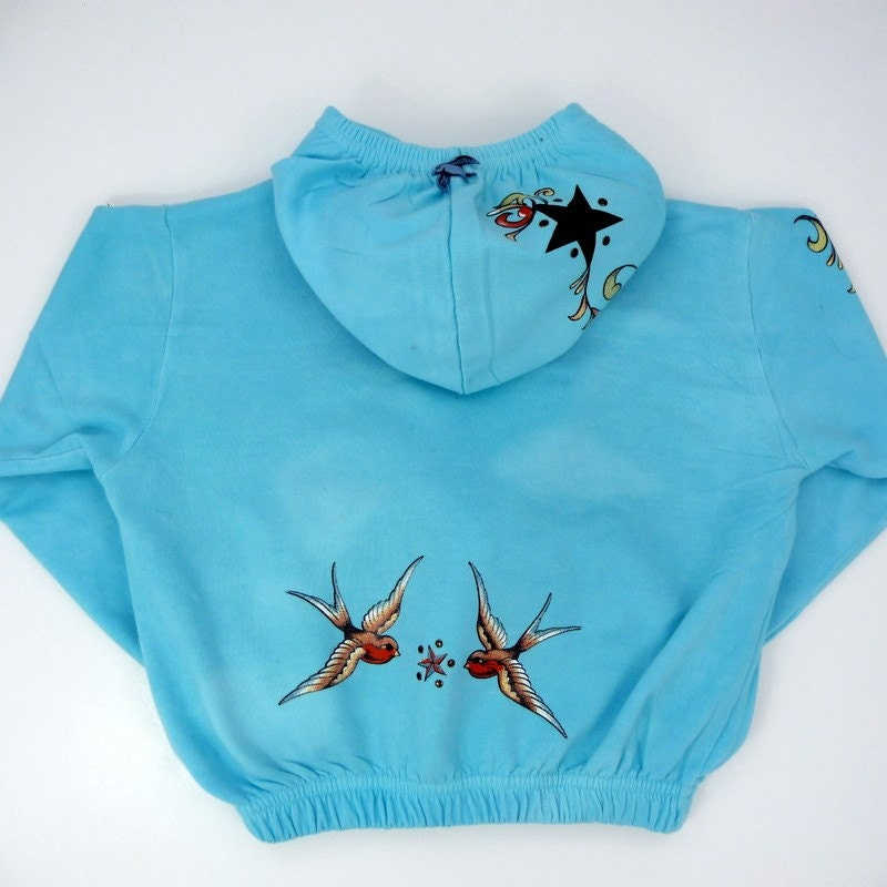 Swallow Tattoo Hoodie Jacket - Size
