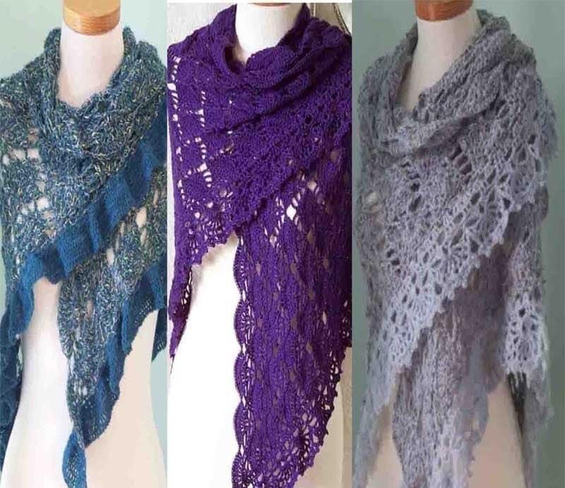 Crochet Shawl Patterns - Cross Stitch, Needlepoint, Rubber Stamps