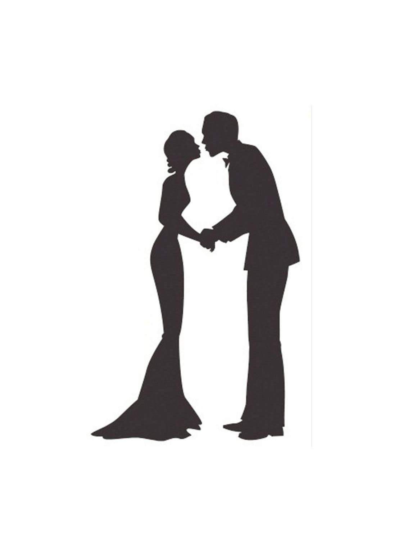 free wedding couple silhouette clip art - photo #6